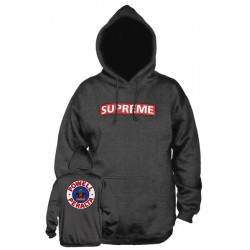 POWELL PERALTA / SUPREME Hood Charcoal Red - Sweat A Capuche POWELL PERALTA / SUPREME
