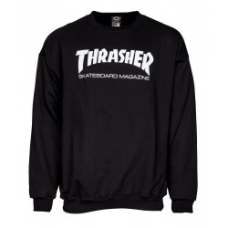 THRASHER Crew Skate Mag Black - Sweat Sans Capuche Thrasher