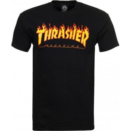 THRASHER Flame Logo Tee-shirt - Black