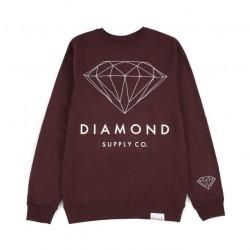 DIAMOND Brilliant Diamond Crew - Sweat sans Capuche Burgundy