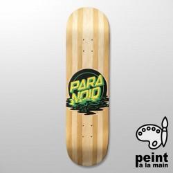 """PARANOID Para-Noid 8.375"""" Deck Skateboard Peint à la Main - Plateau de Skate Pro"""