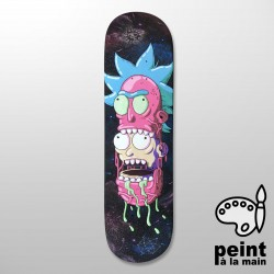"PARANOID R&M Collection 8.0"" Deck Skateboard Peint à la Main - Plateau de Skate Pro"