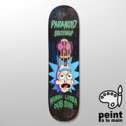 "PARANOID R&M Collection 8.125"" Deck Skateboard Peint à la Main - Plateau de Skate Professionnel"