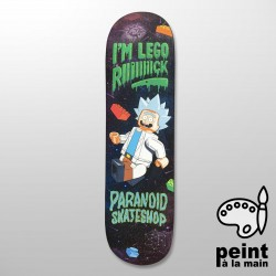 "PARANOID R&M Collection 8.25"" Deck Skateboard Peint à la Main - Plateau de Skate Professionnel"