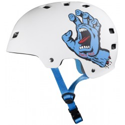 BULLET x SANTA CRUZ Screaming Hand Helmet White  - Casque de Protection