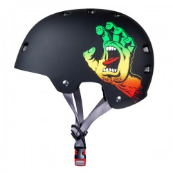 BULLET x SANTA CRUZ Screaming Hand Helmet Rasta  - Casque de Protection S/M