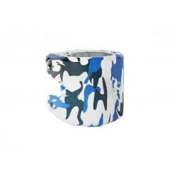 STRIKER Essence Double Clamp Camo Bleu - Collier de Serrage Trottinette Freestyle