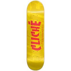 CLICHE Banco RHM Yellow 8.25 Deck Skateboard - Plateau de Skate Professionnel