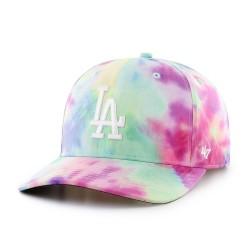 47 Cap MLB Los Angeles Dodgers Tie Dye MVP DP White - Casquette 47