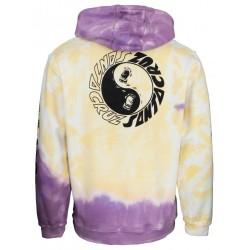 SANTA CRUZ Hood Scream Ying Yang Yellow / Purple Fold Dye - Sweat A Capuche Santa Cruz