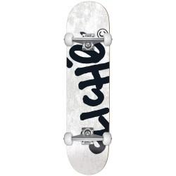 CLICHE Skateboard Handwritten White 8.25 - Planche de Skate Professionnelle Complète