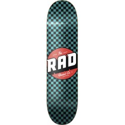 "RAD Checker Black & Blue Green 8.0"" Deck Skateboard - Plateau de Skate Professionnel"