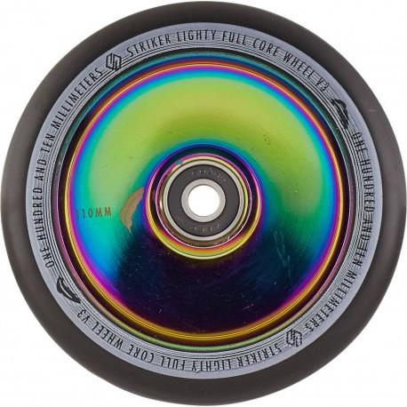 STRIKER Lighty Full Noyau V3 Black 110mm Wheels Rainbow - Roues Trottinette Freestyle