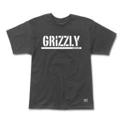 GRIZZLY Stamp Tee-shirt - Black / White