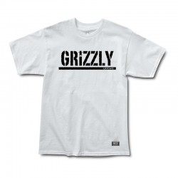 GRIZZLY Stamp Tee-shirt - White / Black