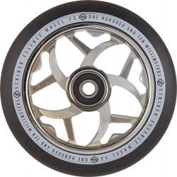 STRIKER Essence V3 Black 110mm Wheels Chrome - Roues Trottinette Freestyle