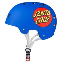 BULLET x SANTA CRUZ Classic Dot Helmet Blue Matt  - Casque de Protection S/M