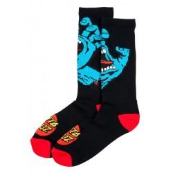 SANTA CRUZ Screaming Hand Socks Black - Chaussettes Montantes