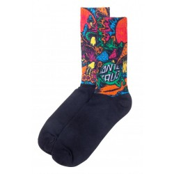 SANTA CRUZ Toxic Wasteland Socks Black - Chaussettes Montantes