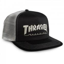THRASHER Cap Mag Logo Mesh EMB Black / Grey - Casquette Thrasher
