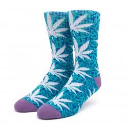 HUF Paradise Experiment PL Socks Teal - Chaussettes Montantes