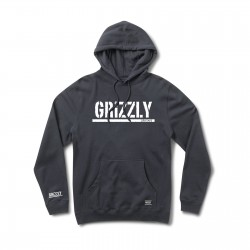 GRIZZLY OG Stamp Hood Navy / White - Sweat A Capuche GRIZZLY