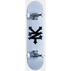 "ZOO YORK Skateboard Crackerjack 8.0"" Blanc - Planche de Skate Professionnelle Complète"