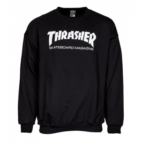 THRASHER Crew Skate Mag Black - Sweat Sans Capuche Thrasher