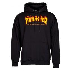 THRASHER Hoody Flame Logo Black - Sweat A Capuche Thrasher