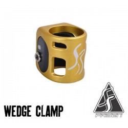FASEN 2 Bolts Clamp Gold/Black - Collier de Serrage Trottinette Freestyle