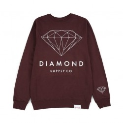 DIAMOND Brilliant Diamond Crew - Sweat sans Capuche Burgundy