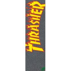 MOB GRIP x THRASHER Plaque de Grip Flame Logo - Griptape Skateboard