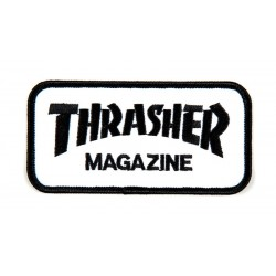 THRASHER Logo Patch Black / White - Ecusson Vêtements / Sacs ...