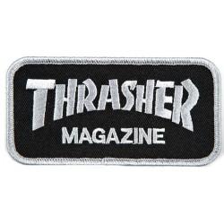 THRASHER Logo Patch Grey / Black - Ecusson Vêtements / Sacs ...