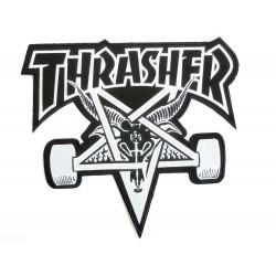 THRASHER Logo Skate Goat  Patch Black / Grey - Ecusson Vêtements / Sacs ...